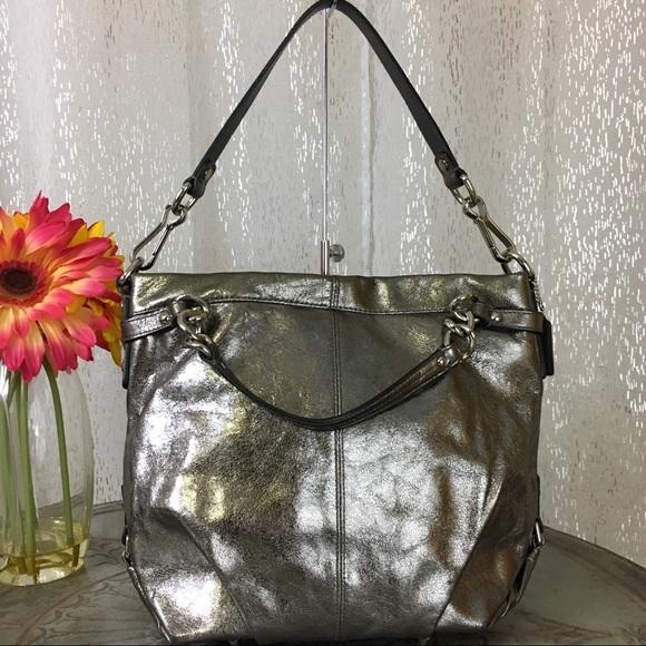14610969868 Coach Bags   Brooke 2way Metallic Silver Hobo Bag F17165   Poshmark